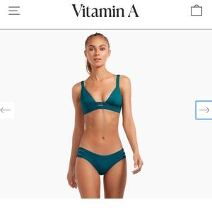 Vitamin A Emelia Triple Strap Swimsuit Size Small